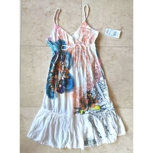 NWT Sundress Beach Dress coverup sz M